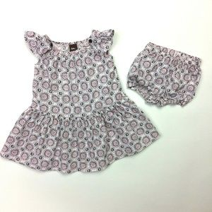 Tea Collection 3-6 Months Woven Dress & Bloomers